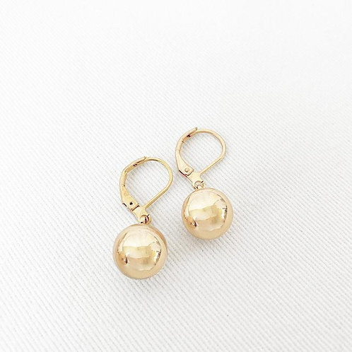 CARACOL GOLD BALL DANGLY EARRING