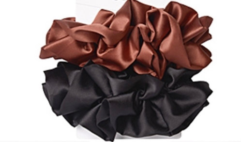 2 PACK DOUBLE RUFFLES SCRUNCHIES