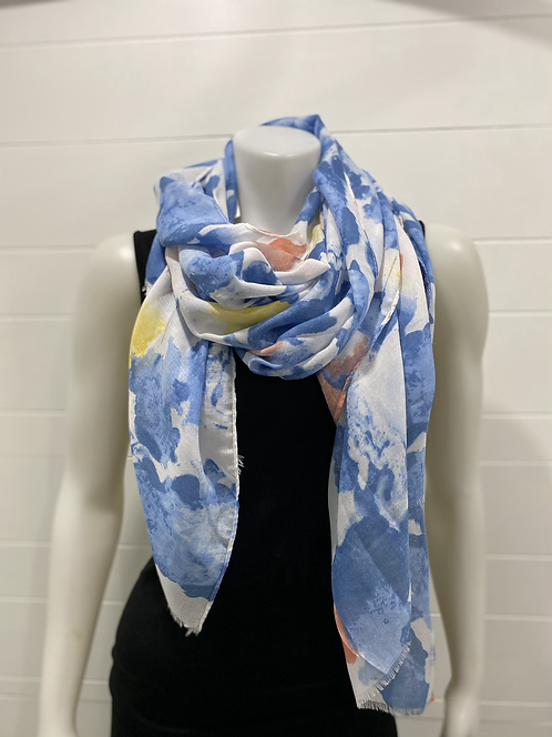 PICABO BLUE/YELLOW SCARF