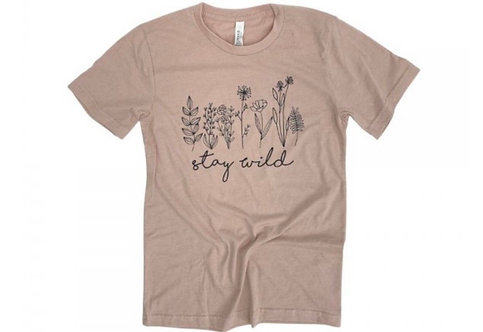 STAY WILD TEE PINK