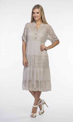 CHERISHH BEIGE COTTON DRESS