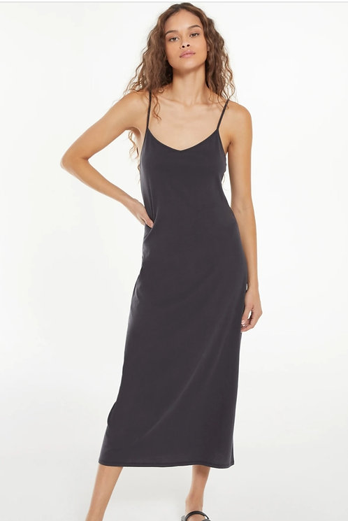 Z SUPPLY RAYNE ORGANIC SLIP DRESS WASHED BLACK