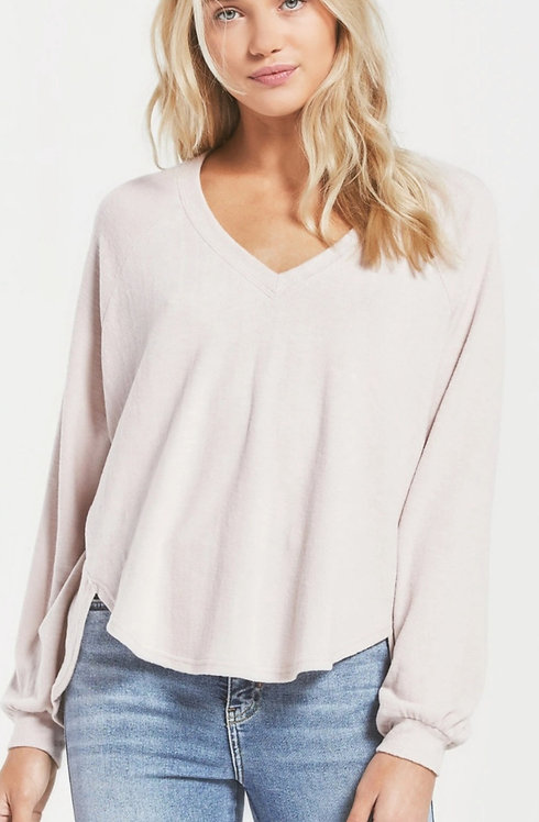 Z SUPPLY  LONG SLEEVE HIGH LOW TOP