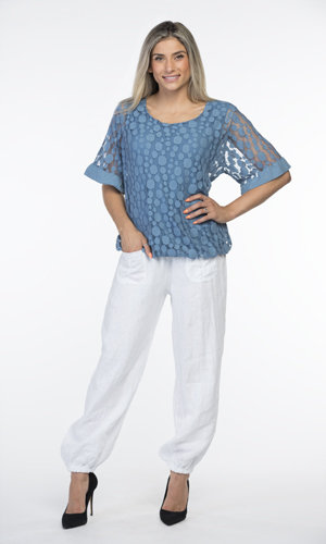 CHERISHH BLUE LACE TOP
