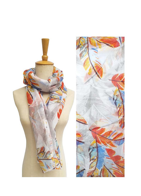 PASSIONS LIGHT WEIGHT SCARF CORAL