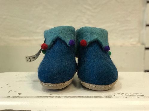 KIDS BLUE JESTER SLIPPERS