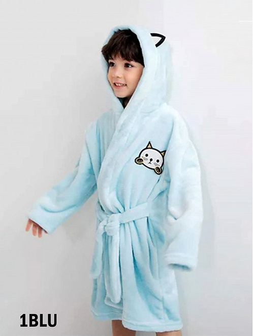GRAND KIDS BLUE CAT ROBE