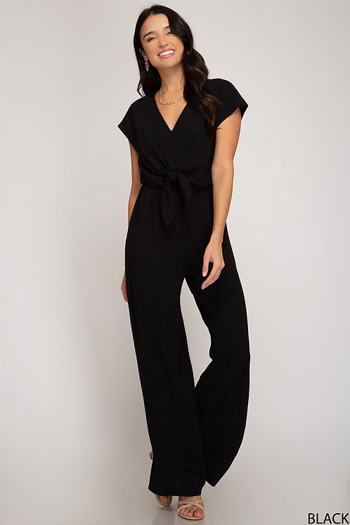 SHE AND SKY JUMPSUIT BLACK