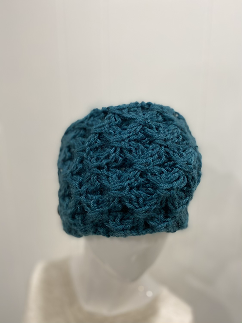 BLUE TEAL KNIT CHUNKY HEADWARMER