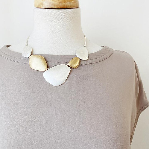 CARACOL GOLD AND SILVER NECKLACE