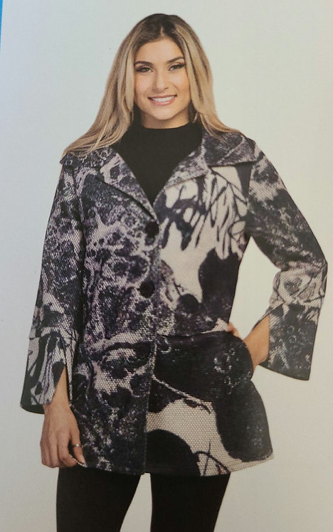 VARATIONS PRINTED BUTTON UP JACKET WITH SIDE POCKETS