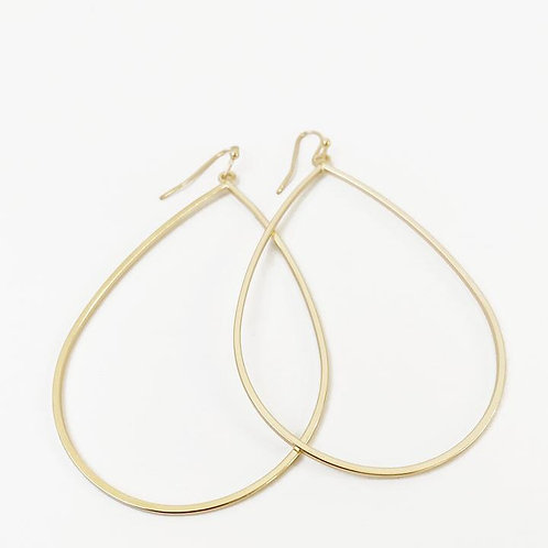 CARACOL GOLD DANGLY EARRING 2436