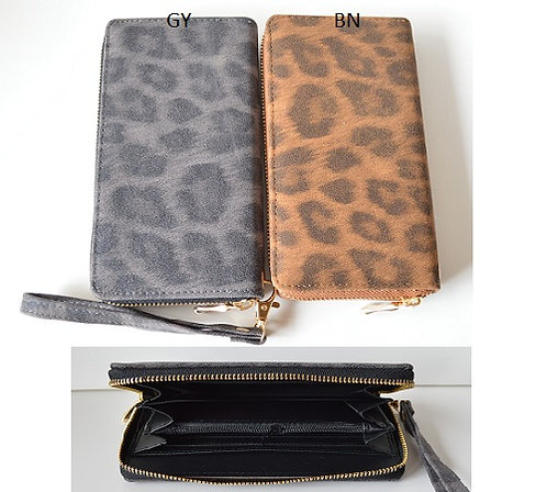 PICABO LEOPARD WALLET GREY