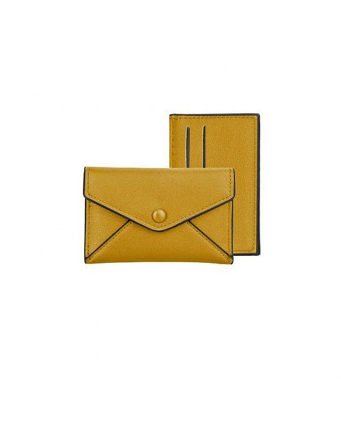 MUSTARD YELLOW CARD PURSE