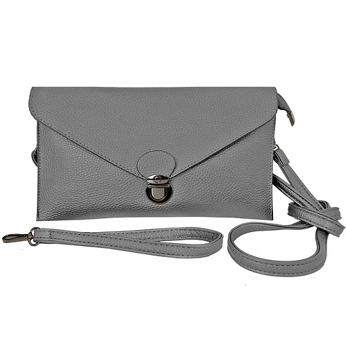 CARACOL GREY RECTANGLE PURSE