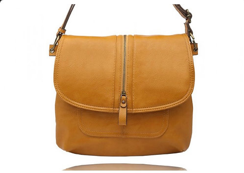 LA VOLTA RITA MUSTARD CROSSBODY PURSE