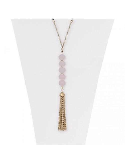 TASSEL NECKLACE PINK
