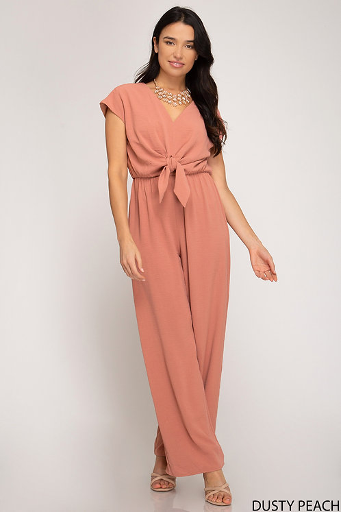 SHE AND SKY JUMPSUIT DUSTY PEACH