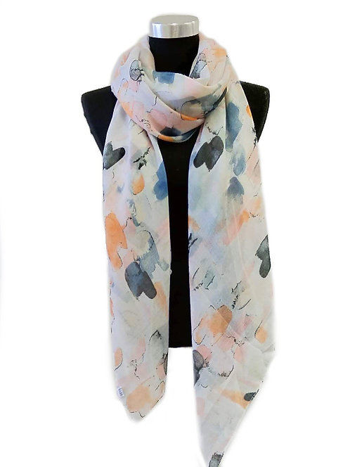 CORALALA LIGHTWEIGHT SCARF MULTI COLOURED DETAIL