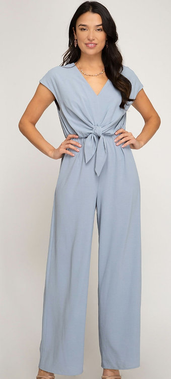 SHE AND SKY JUMPSUIT DUSTY BLUE