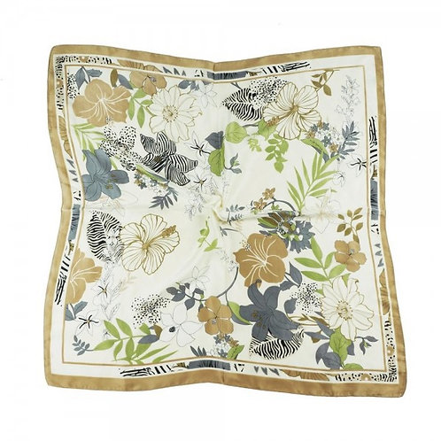 STYLELINE SILK TAUPE FLORAL SCARF
