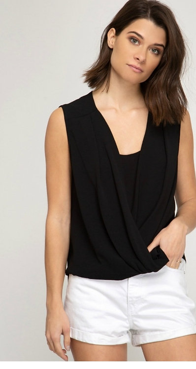 SHE AND SKY COWL NECK TANK
