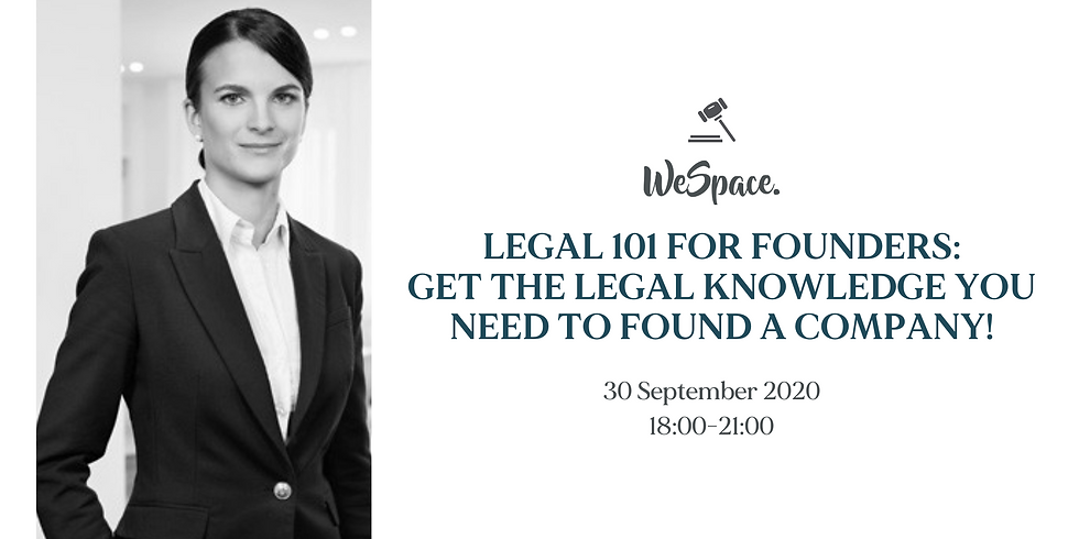 Get the legal knowledge you need to found a company!