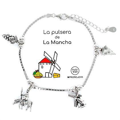 PULSERA DE LA MANCHA PLATA