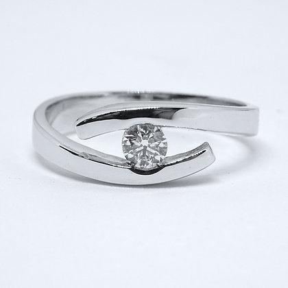 ANILLO SEÑORA NEW DIAMONT JEWELRY ORO BLANCO Y DIAMANTES