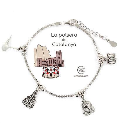 PULSERA DE CATALUNYA PLATA