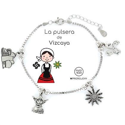 PULSERA DE VIZCAYA PLATA
