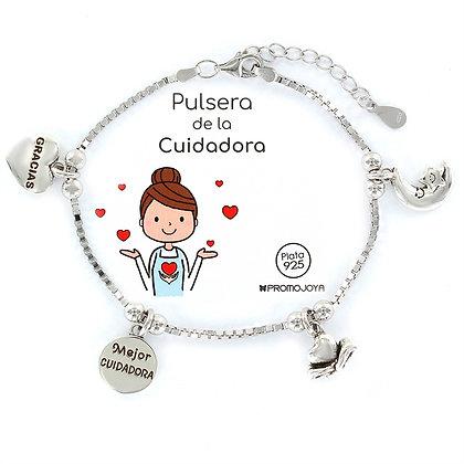 PULSERA DE LA CUIDADORA PLATA