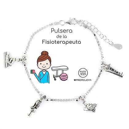PULSERA DE LA FISIOTERAPEUTA PLATA