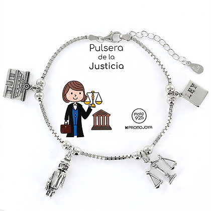 PULSERA DE LA JUSTICIA PLATA