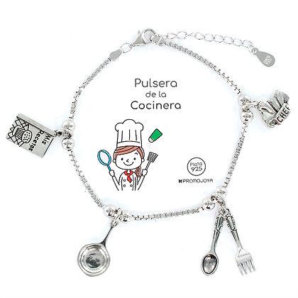 PULSERA DE LA COCINERA PLATA