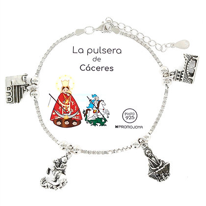 PULSERA DE CÁCERES PLATA