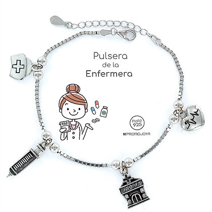 PULSERA DE LA ENFEREMERA PLATA
