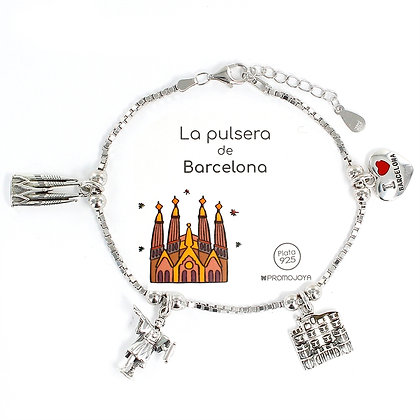 PULSERA DE BARCELONA PLATA