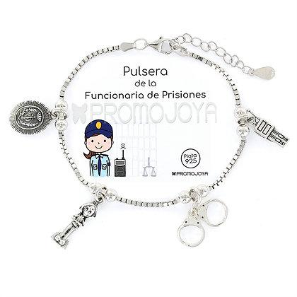 PULSERA DE LA FUNCIONARIA DE PRISIONES
