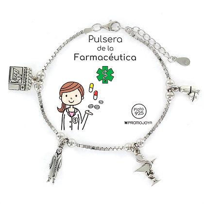 PULSERA DE LA FARMACÉUTICA PLATA