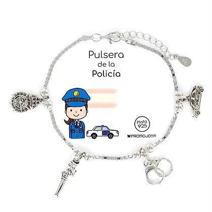 PULSERA DE LA POLICÍA PLATA
