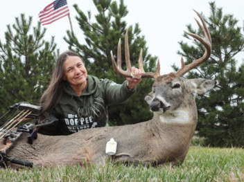 Owner, Judi Collora knows how to get it done with the best deer lure out there.
