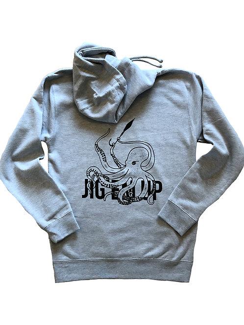 Octopus Gray Hooded Sweatshirt