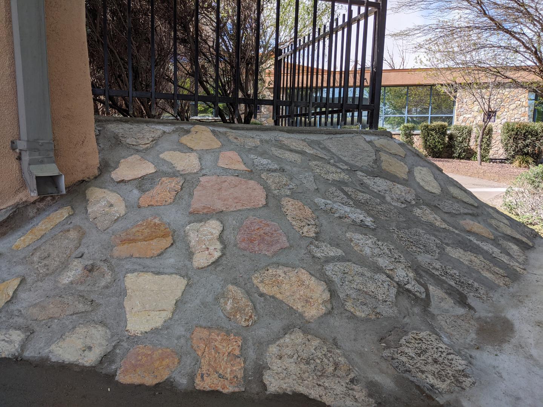 Chamizal Spanish Rock Wall