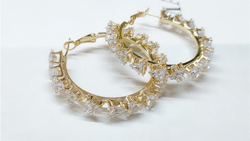 Josephine's Diamond Large Circle Earrings