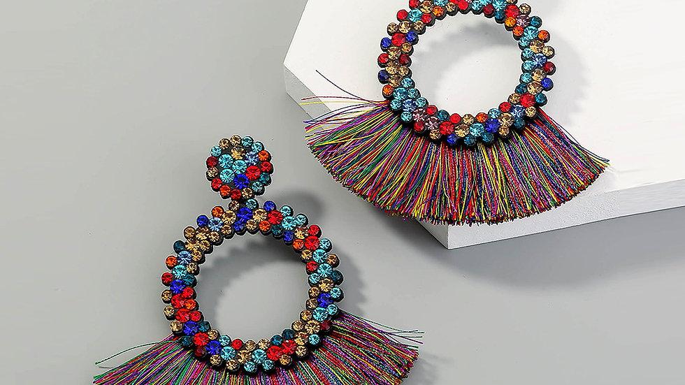 Josephine's multi-fan earrings