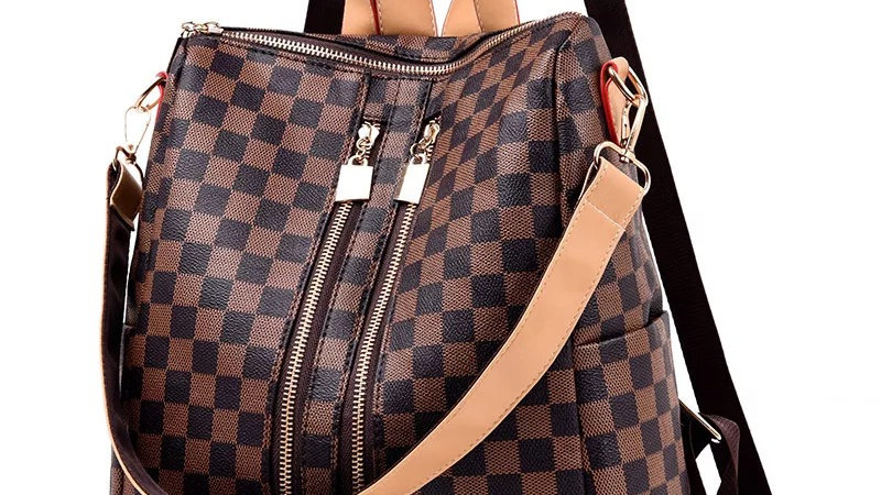Josephine's Checkered  Backpack