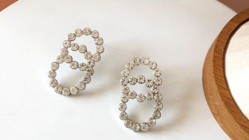 Josephine's Diamond Geometric Earrings