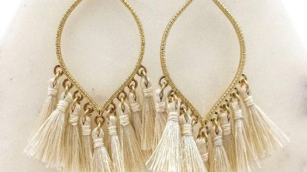 Marquise Tassel Earrings