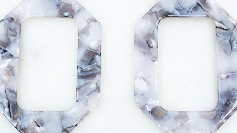 Drop Cingular Acetate  Earrings